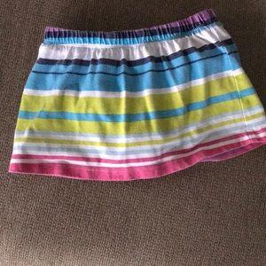 18M Toddler Striped Multi Color Skirt
